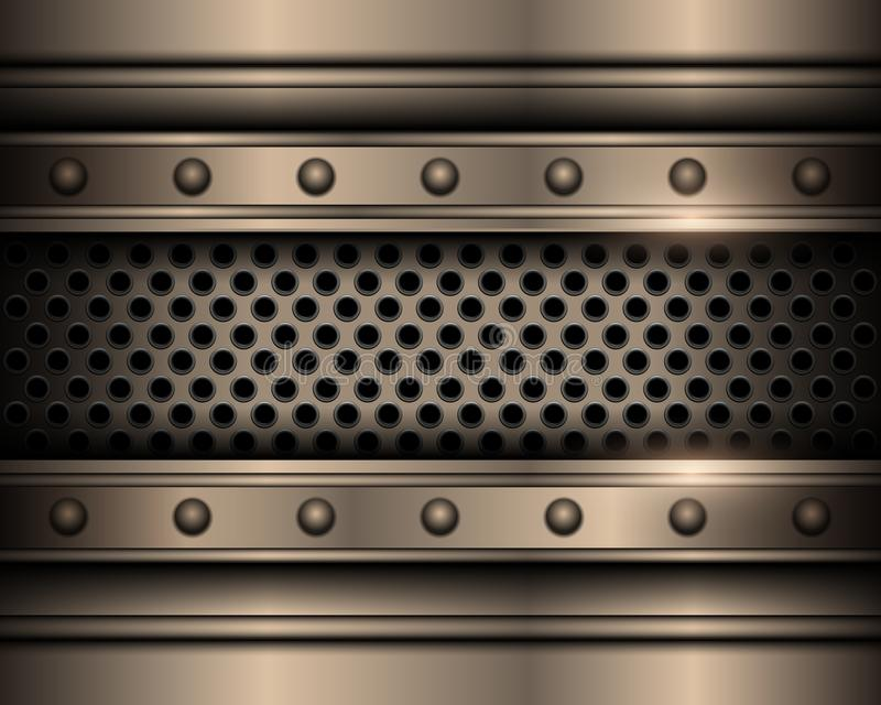 Metal background with rivets. Technology vector design royalty free illustration