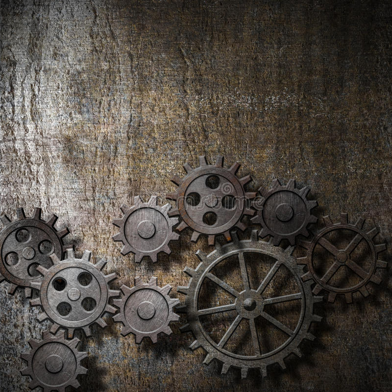 Free Metal Background With Rusty Gears Royalty Free Stock Photography - 32047097
