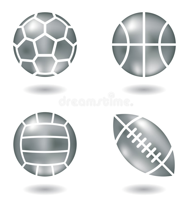 Metal balls stock images