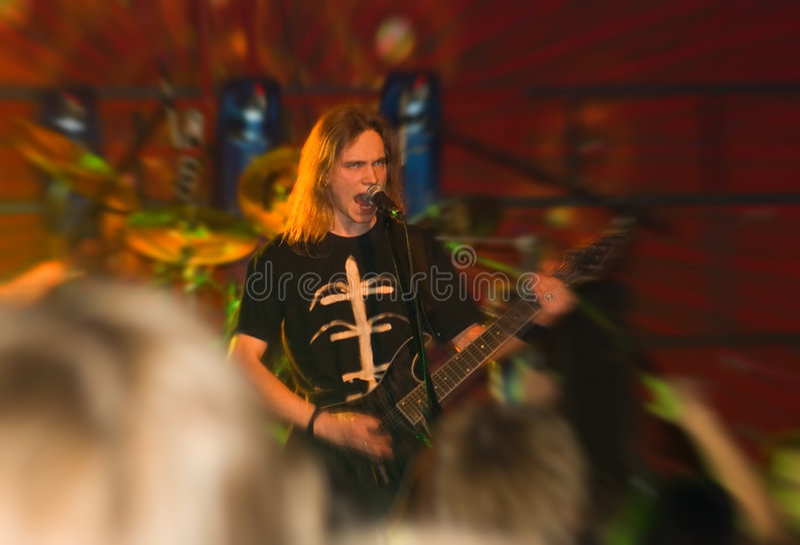 Metal band concert royalty free stock photos