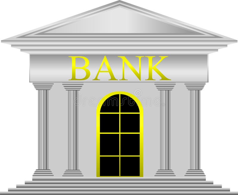 Download Metal bank stock vector. Image of greek, building, symbol - 22005133