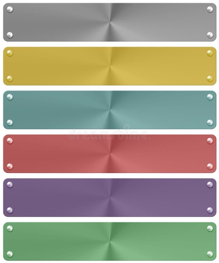 Metal banner set (01) stock image