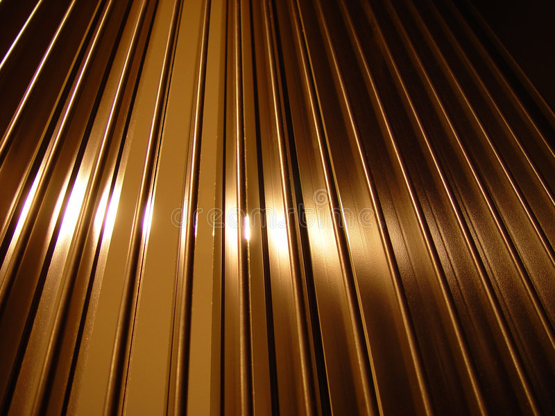 Metal bars. From behind royalty free stock image