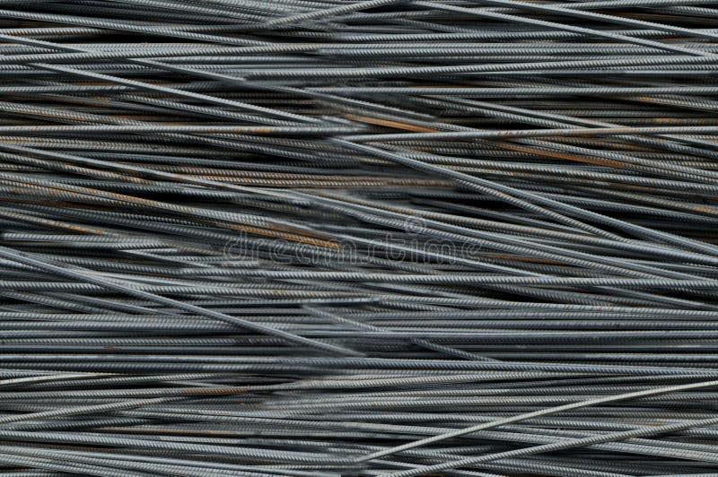 Metal bars armature pattern stock image