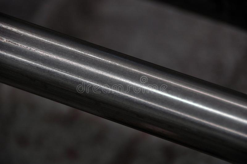 Metal bars. Round steel bars. - iron metal material for industry construction. royalty free stock photos