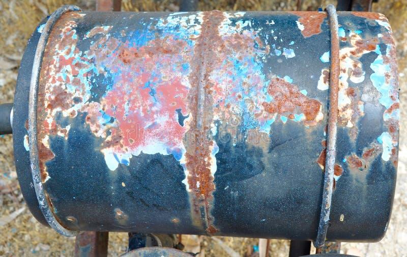 Metal baryłka: Kolory rdza fotografia royalty free