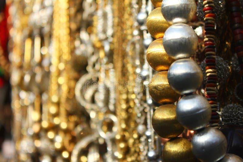 Metal beads in shop royalty free stock image