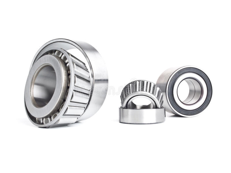 Metal bearing. The bearing. Details rotor the bearing - heavy mechanical engineering.Tapered roller bearings stock photography