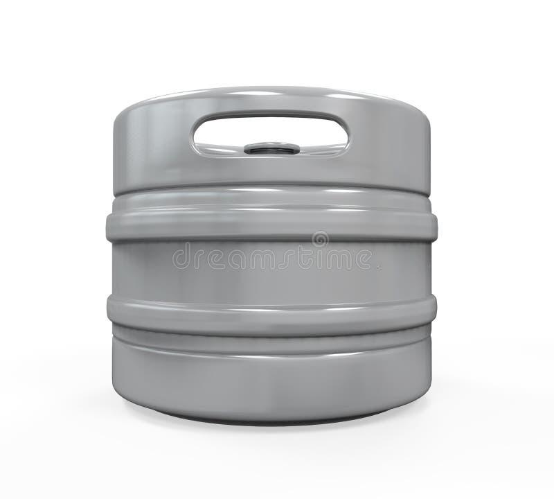 Metal Beer Keg. Isolated on white background. 3D render vector illustration