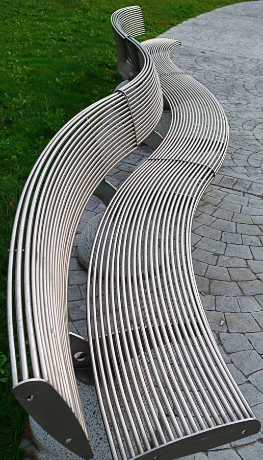 Metal bench in Istambul