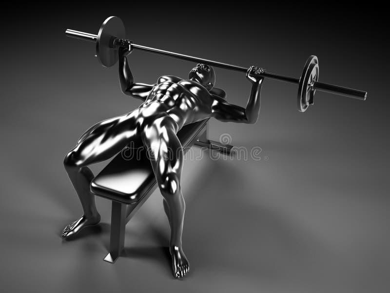 Metal bench press vector illustration