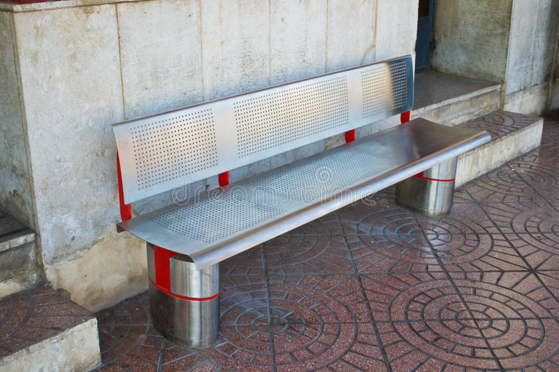 Download Metal Bench in a station stock image. Image of bench - 26005317