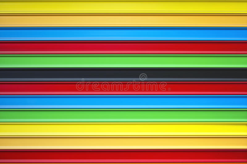 Metal blinds colors. Metal blinds painted with various colors stock photography
