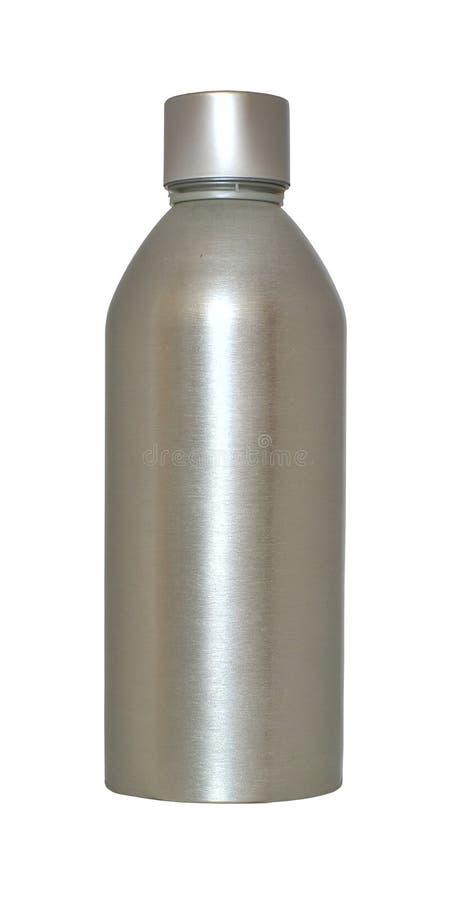 Metal bottle stock photo