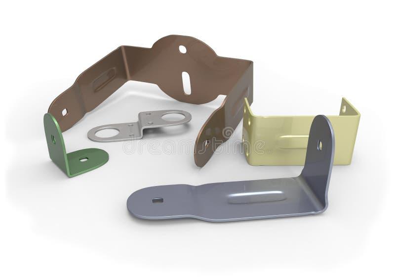 Download Metal brackets stock illustration. Image of white, tools - 29079720