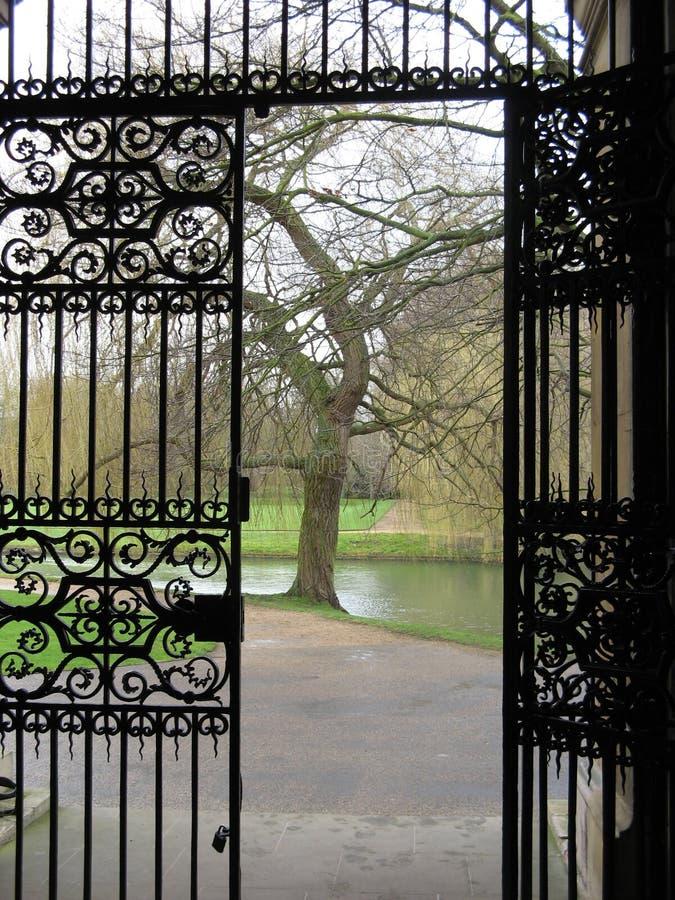 Metal bramy drzwi fotografia stock