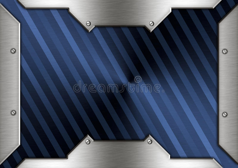 Metal brass frame. With background royalty free stock image