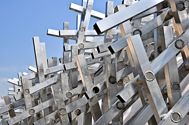 Metal Briar Patch. Metal art structure in Salzburg Austria at the music pavilion royalty free stock image