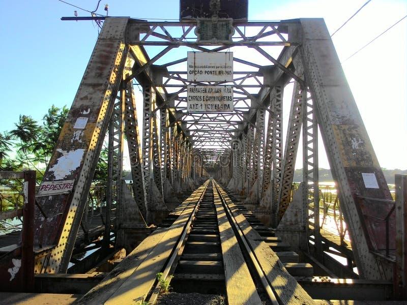 Metal bridge stock images