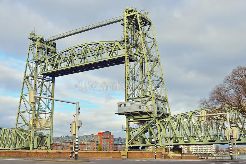 Download Metal bridge in rotterdam stock image. Image of break - 28128733