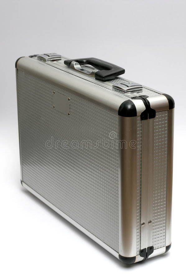 Download Metal Briefcase stock photo. Image of mondane, metal, grey - 181678