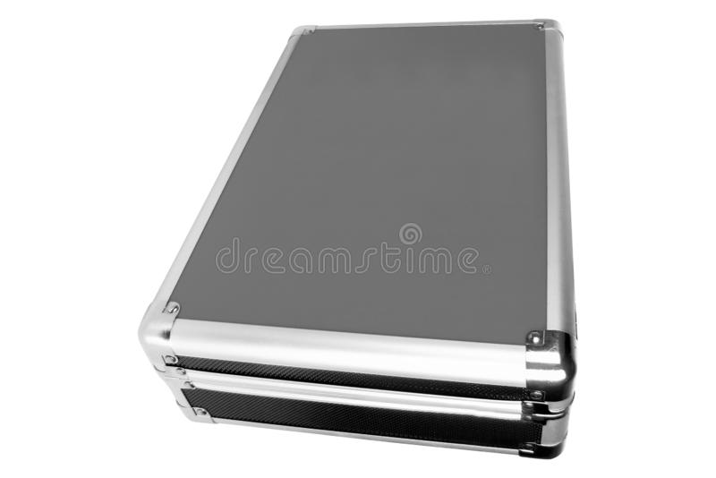 Metal briefcase isolated stock image