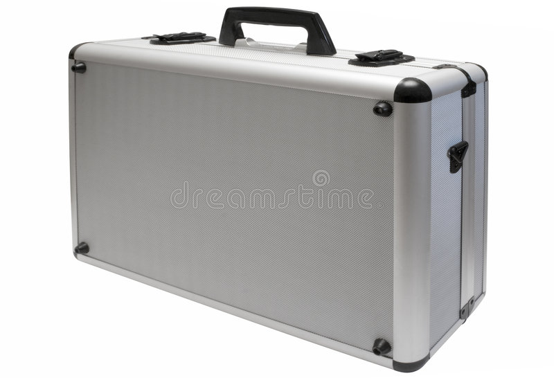 Metal Briefcase W/ Path Royalty Free Stock Images