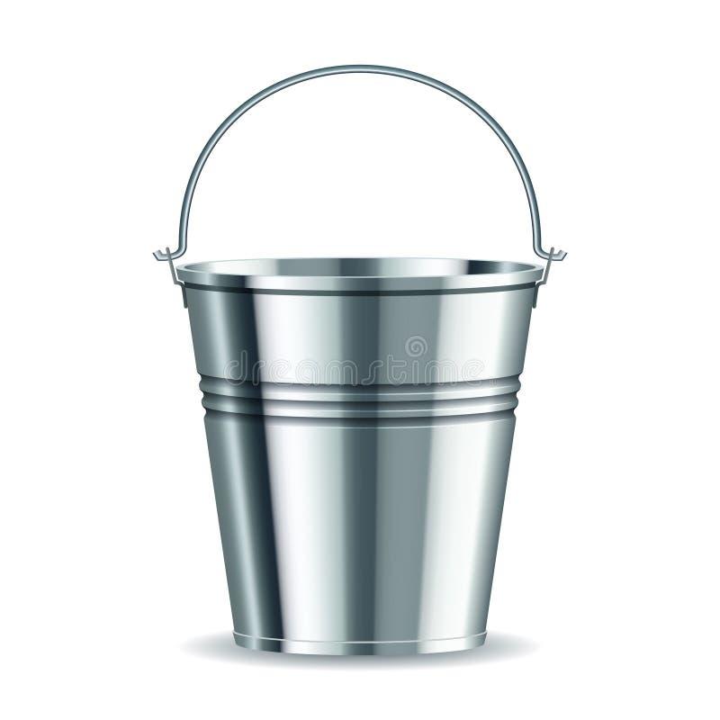 Download Metal bucket stock vector. Illustration of aluminum, path - 26130881