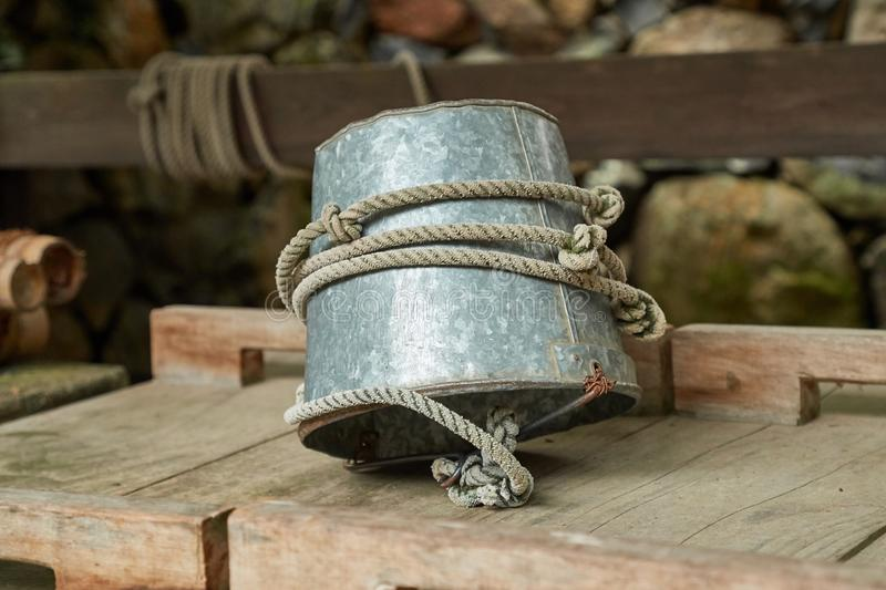 Metal bucket for a well royalty free stock photos