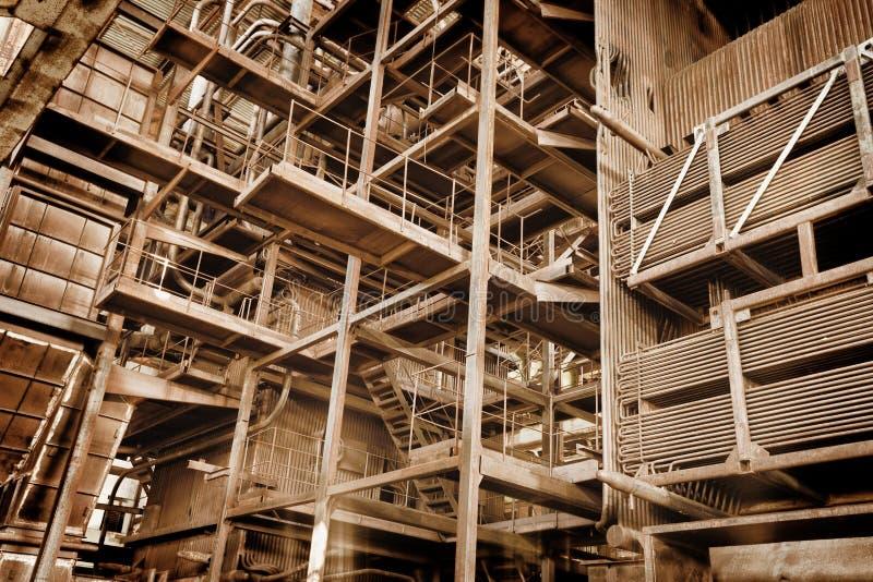 Metal budowa - zaniechany przemysłowy teren obraz royalty free
