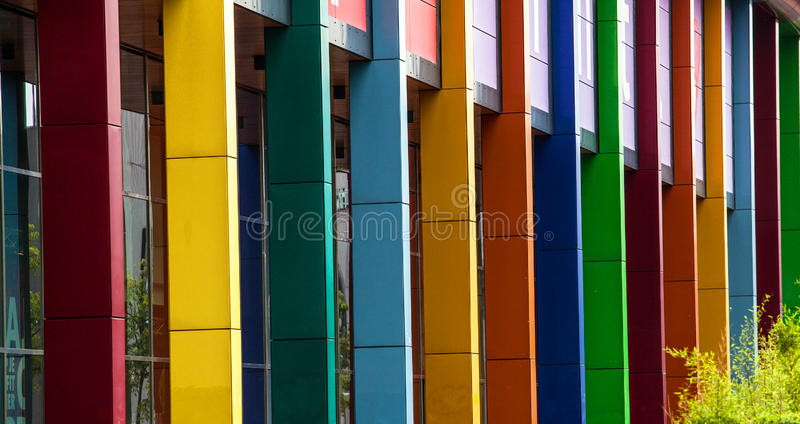 Metal building construction as background royalty free stock image