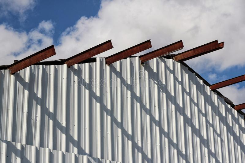 Louisiana Metal Building. A metal building in South Louisiana stock photography
