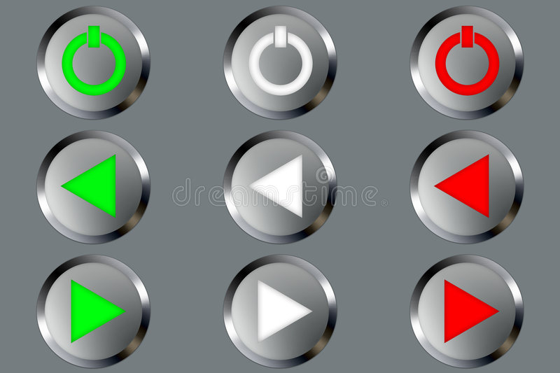 Metal Buttons vector illustration