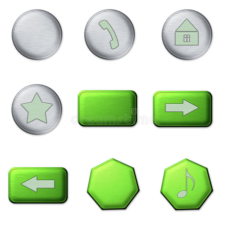 Metal Buttons Stock Images