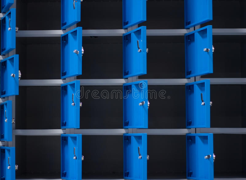 Metal cabinets. In the industry stock photos