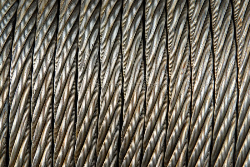 Metal Cable stock image. Image of coiled, thick, rolled - 10051641