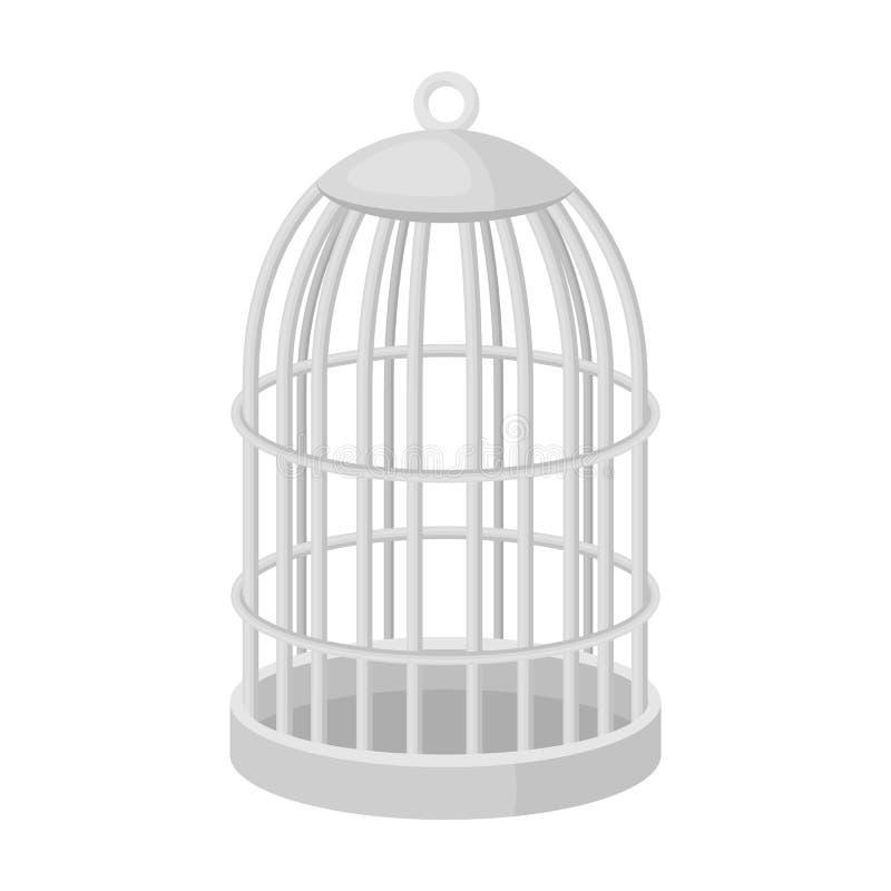 Metal Cage For Birds Pet Shop Single Icon In Black Style Vector