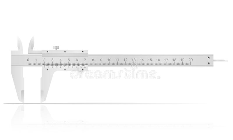 Metal caliper for accurate measurements vector illustration. Isolated on white background royalty free illustration