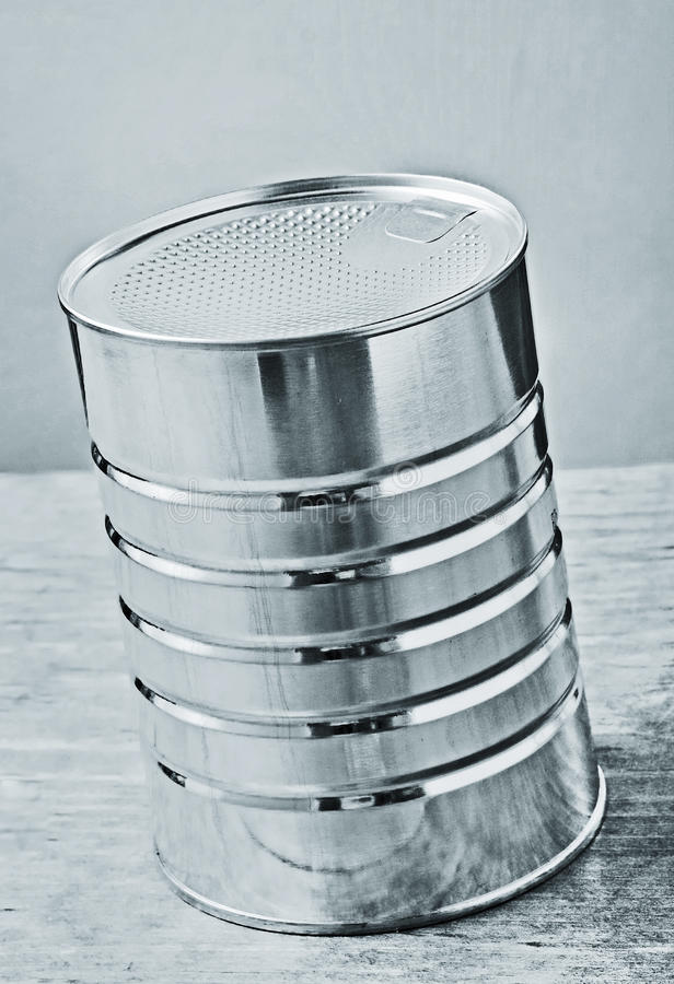 Download Metal can stock image. Image of closed, blue, contents - 13502151