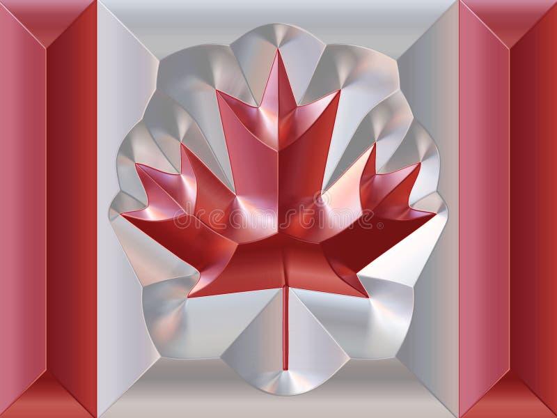 Metal canadian flag vector illustration