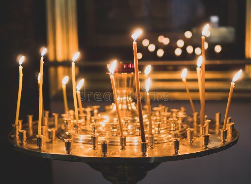 Metal candle light cresset. royalty free stock photo