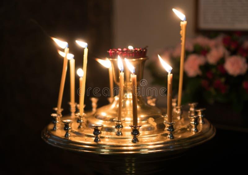Metal candle light cresset. royalty free stock photos