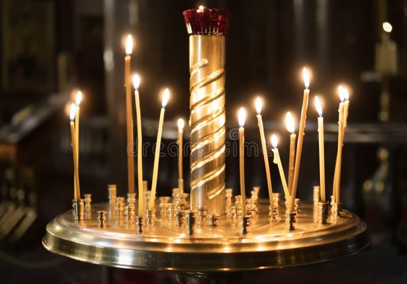 Metal candle light. stock photos