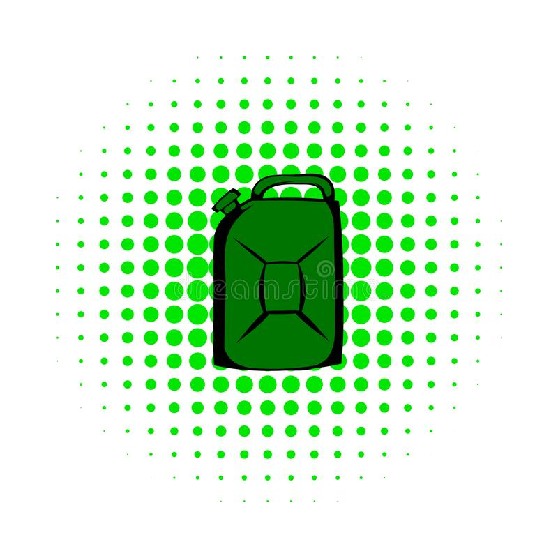 Metal canister comics icon. On white background royalty free illustration