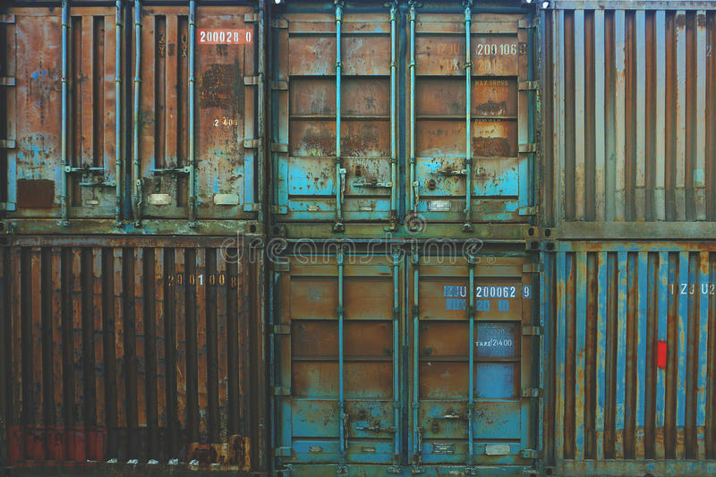 Metal Cargo Containers Free Public Domain Cc0 Image