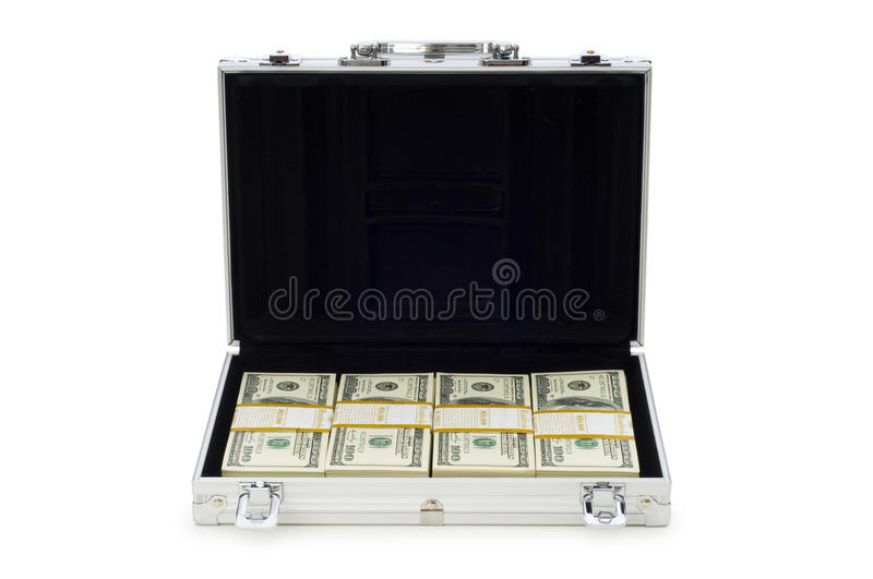 Download Metal Case And Lots Of Dollars Royalty Free Stock Photos - Image: 12578508