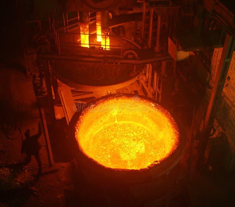Metal casting stock image