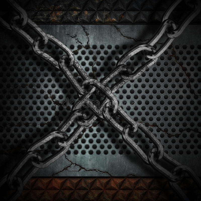 Metal chain background royalty free stock photography