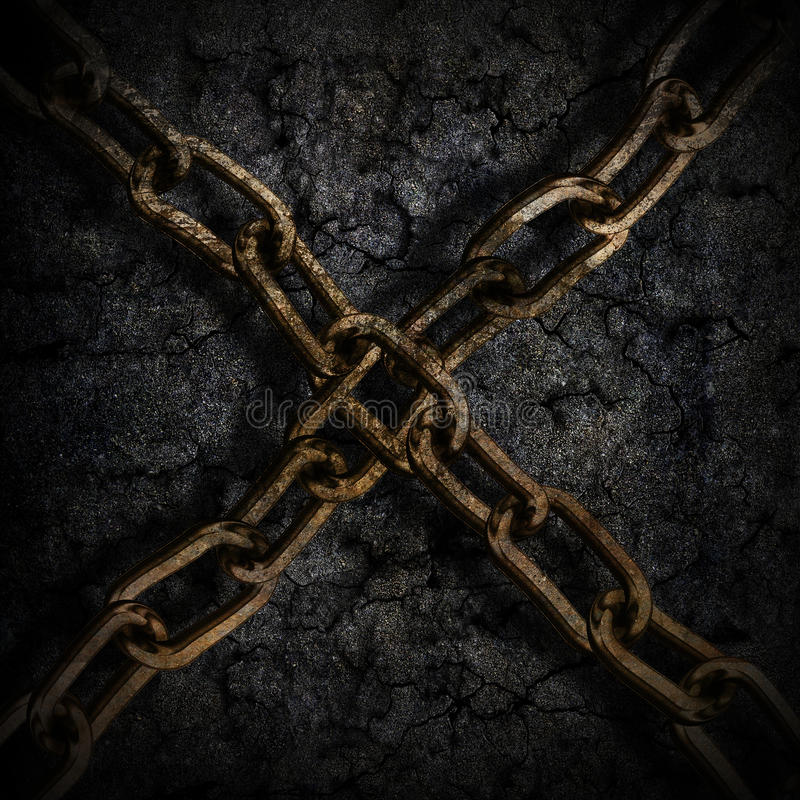 Metal chain background stock photos