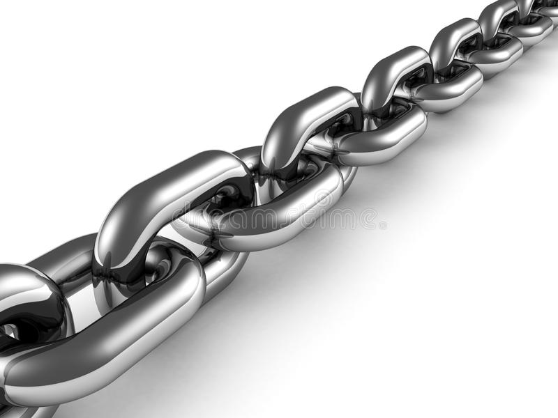 Download Metal Chain Close Up On White Background Stock Illustration - Image: 24918703